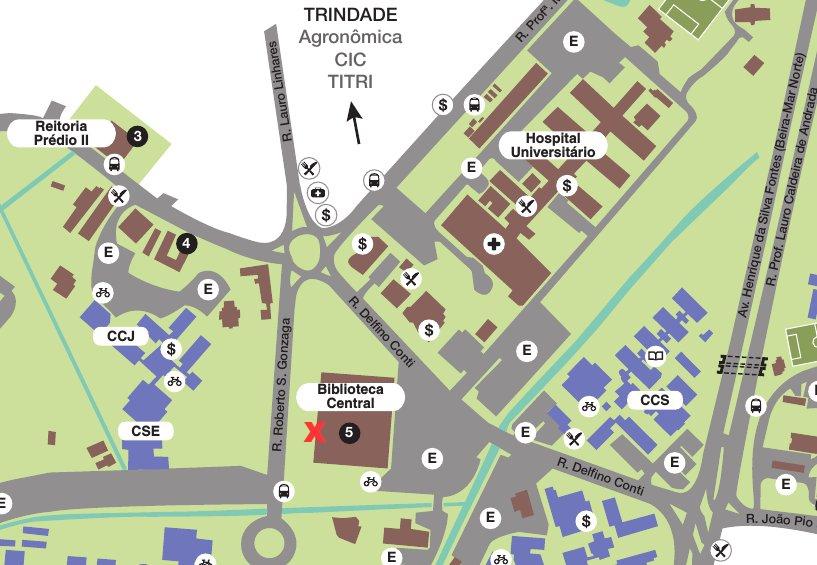 Localização da PRAE no térreo da BU