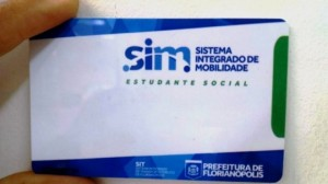 Modelo de cartão de estudante do transporte público de Florianópolis